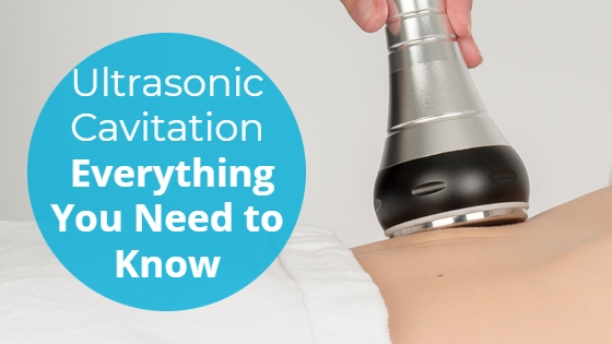 """Ultrasonic Cavitation handpiece with the title """"Ultrasonic Cavitation: Everything You Need to Know"""""""