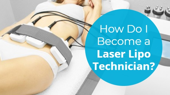 """Woman having a a Laser Lipolysis treatment on her abdomen with the title """"How Do I Become a Laser Lipo Technician?"""""""