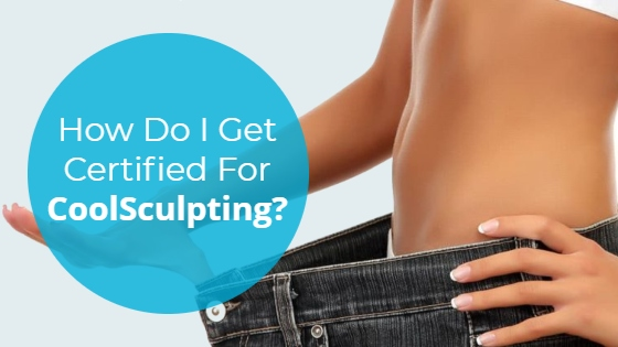 """Woman wearing oversized jeans with the title """"How Do I Get Certified For CoolSculpting?"""""""