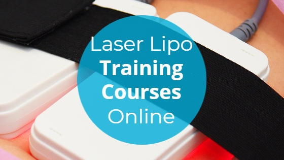 """Laser Lipolysis pads with the title """"Laser Lipo Training Courses Online"""""""